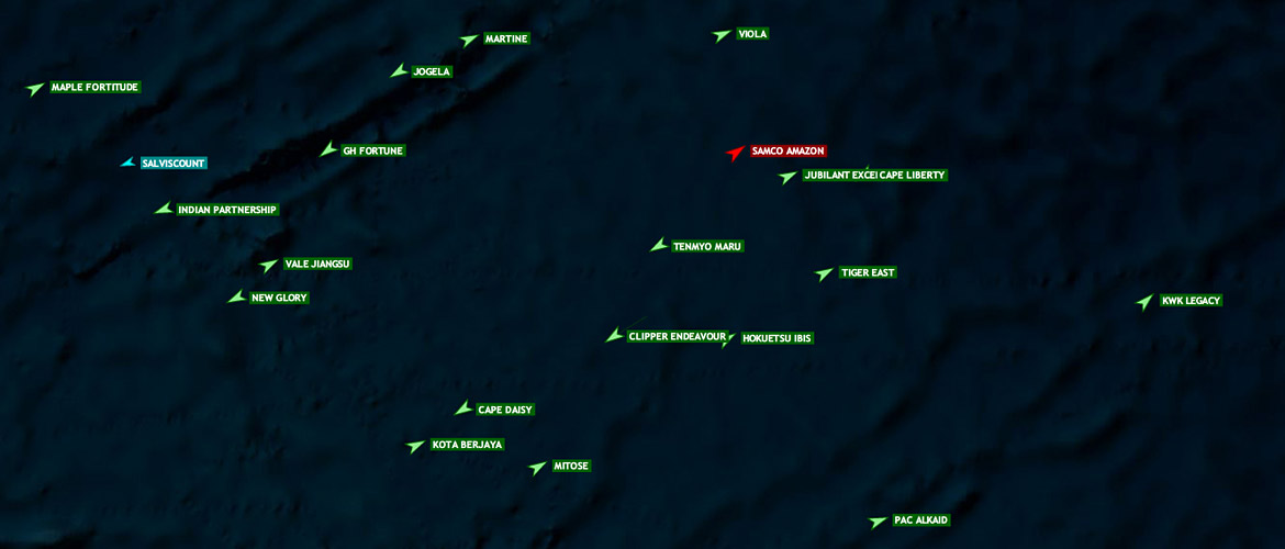 Follow ships to the open sea with satellite AIS.