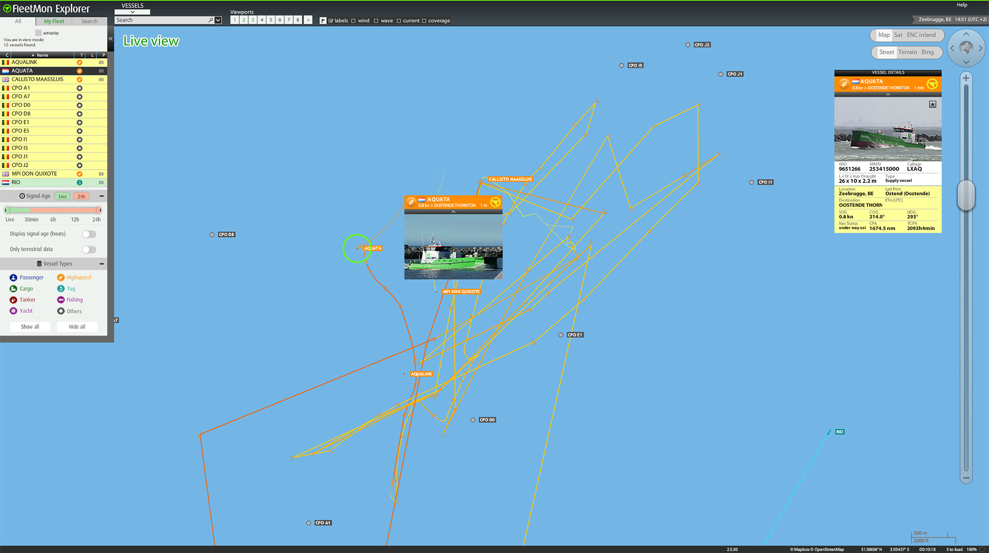 Live vessel tracking and monitoring with FleetMon Explorer