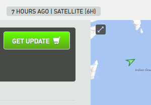 Position updates via satellite AIS on demand