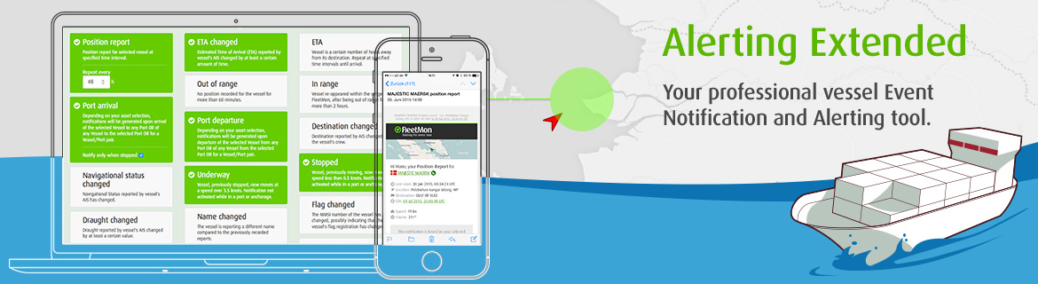 My Alerts - Your personal vessel Event Notification and Alerting tool.