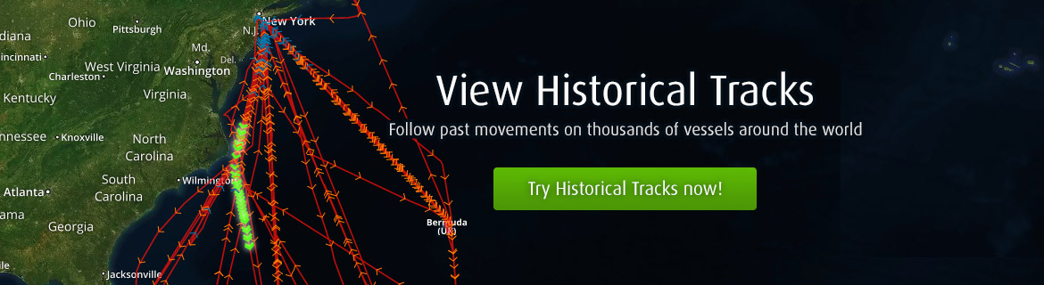 Historical Tracks - Follow past movements on thousands of vessels around the world.