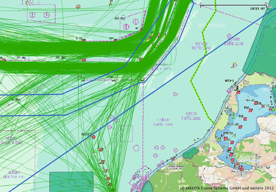 Maritime traffic analysis for regional planning with AIS and GIS software
